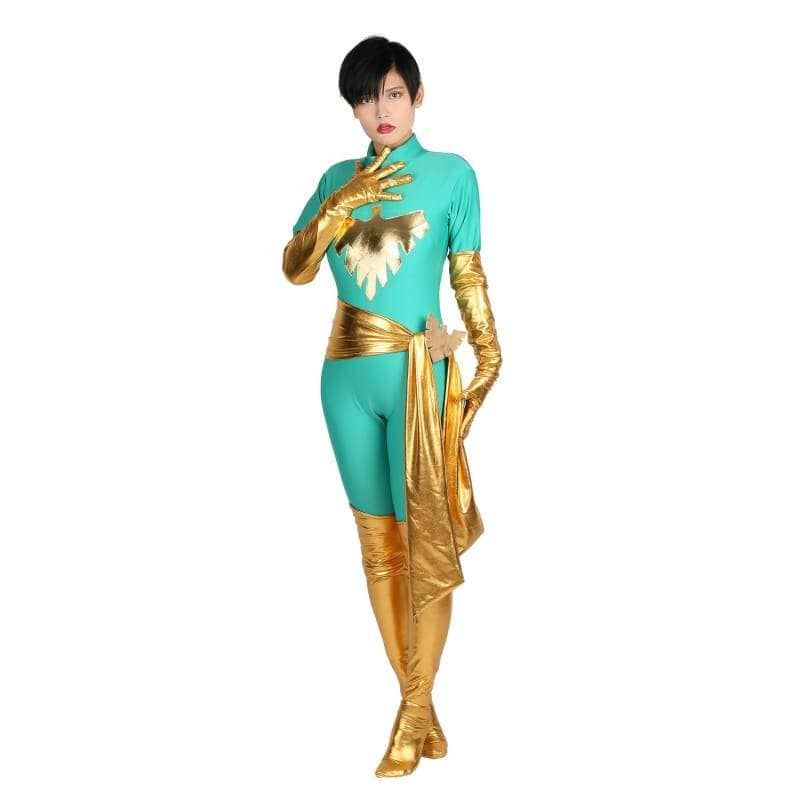 Xcoser Marvel Comics Jean Grey Cosplay Costume Phoenix Catsuit Trendy Womens Bodysuit - Xxl - Costumes 1