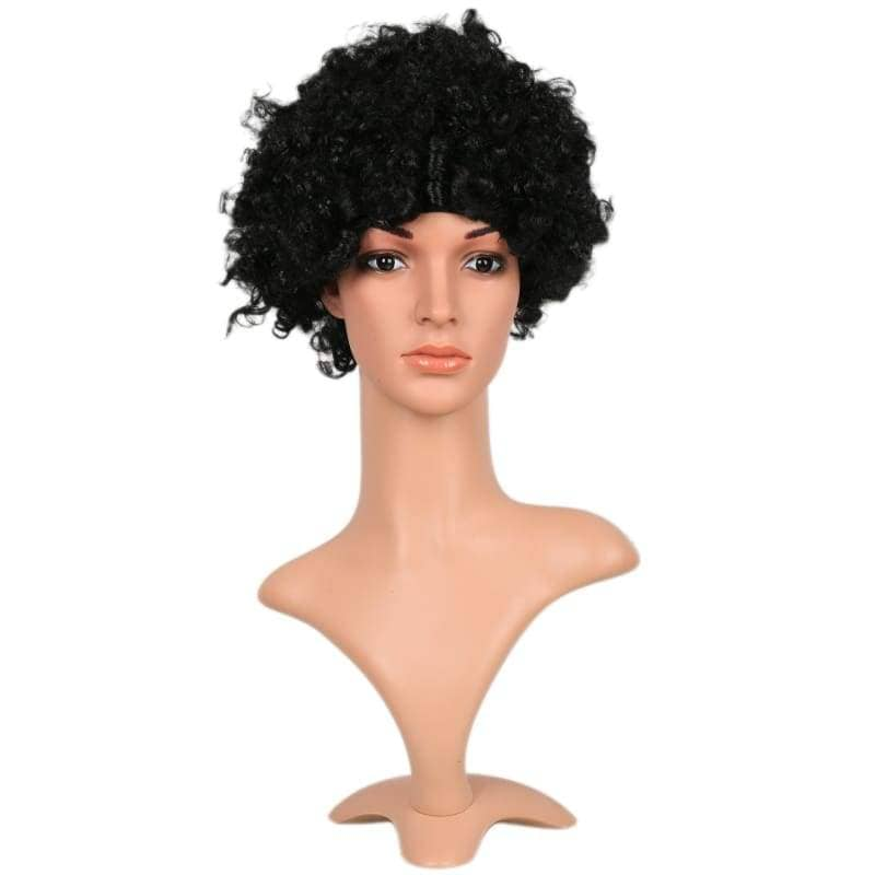 Xcoser Marvels New Iron Woman Riri Williams Cosplay Wig Curly Black Afro Hair - Wigs 1