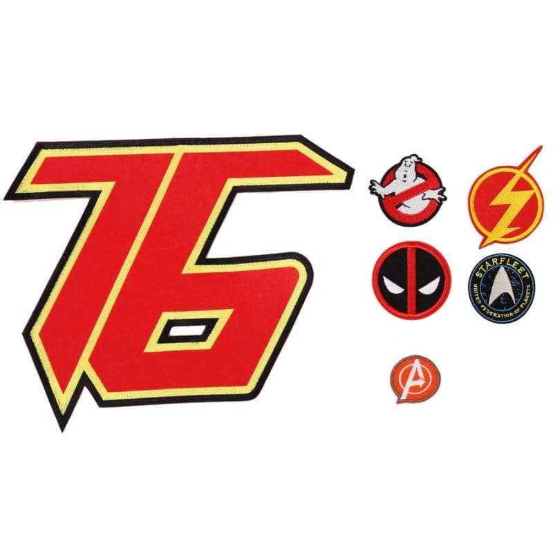 Xcoser Movie Cosplay Accessories Logo Embroidered Patch Badge Iron On Sew Fabric Applique 6Pcs - Props 1
