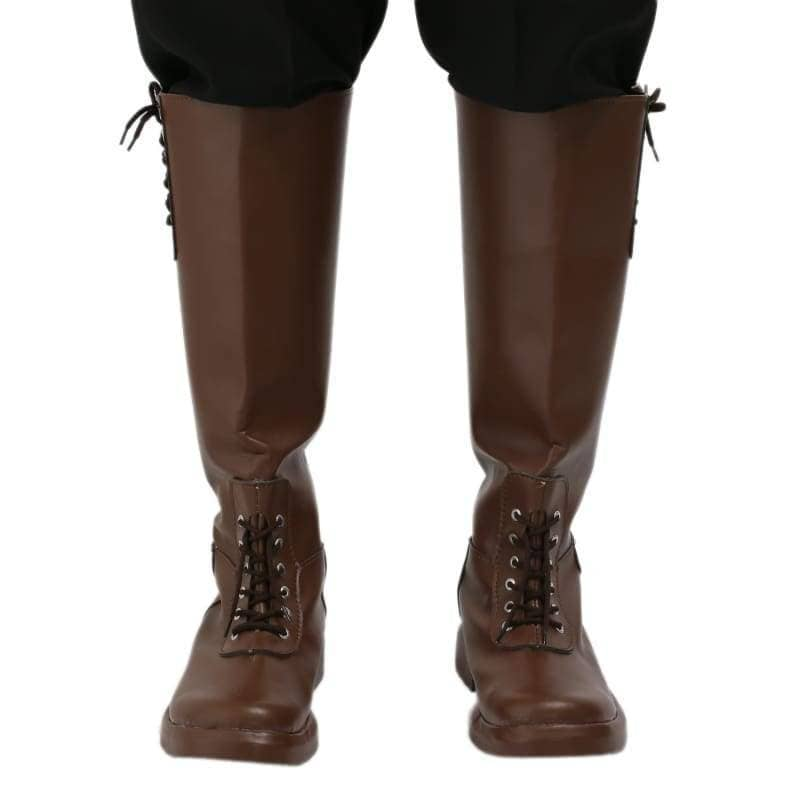 Xcoser New Arrival The Rocketeer Cliff Secord Cosplay Shoes Brown Pu Knee-High Boots For Halloween And - 4
