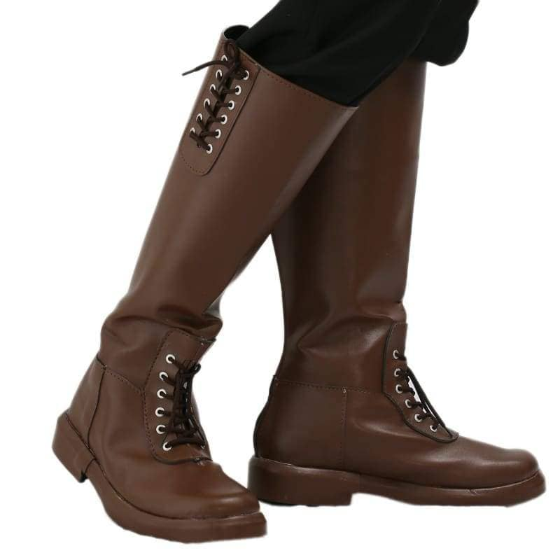 Xcoser New Arrival The Rocketeer Cliff Secord Cosplay Shoes Brown Pu Knee-High Boots For Halloween And - 3