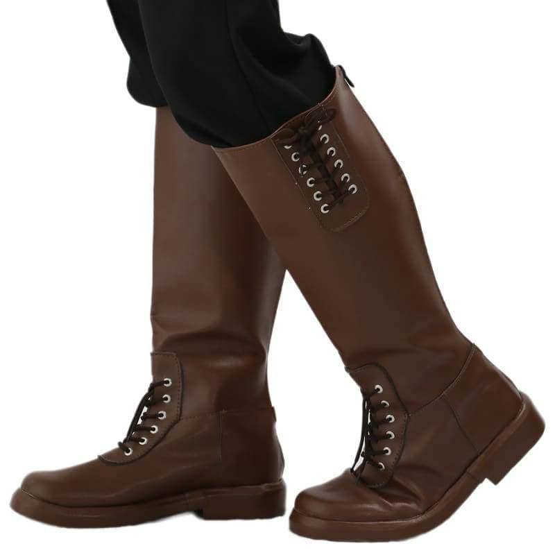 Xcoser New Arrival The Rocketeer Cliff Secord Cosplay Shoes Brown Pu Knee-High Boots For Halloween And - 2