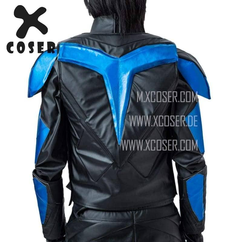 Xcoser Nightwing Cosplay Costumes Titans Season 2 Blue Suit CostumesS- Xcoser International Costume Ltd.