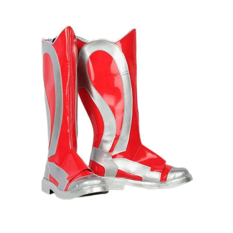 Xcoser Original Design Power Rangers Boots Deluxe Leather Boots for Red Rangers Cosplay Sale BootsMale 46(US12)- Xcoser International Costume Ltd.