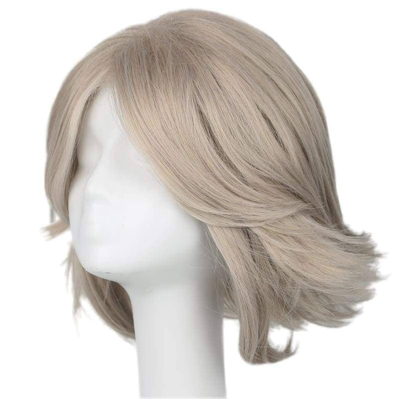 Xcoser X Cosplay Men Rogue Silver with Brown Straight Wig Hair for Halloween