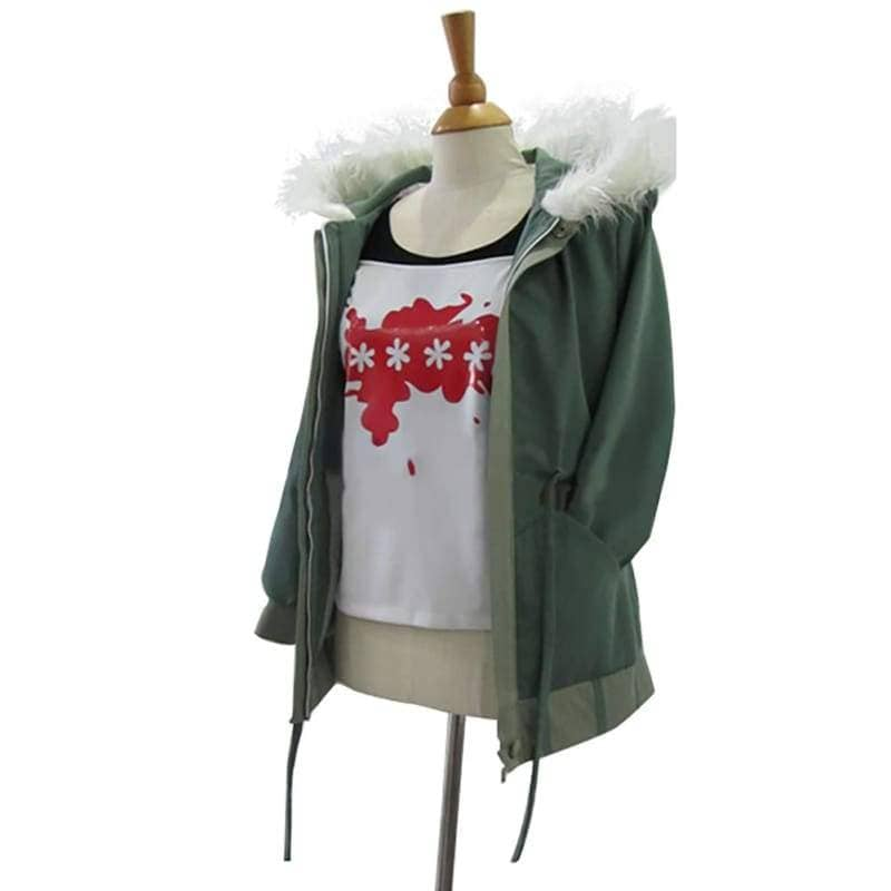 Xcoser Persona 5 Futaba Sakura Army Green Cotton Hooded Coat Cosplay Costume - s - Costumes 1
