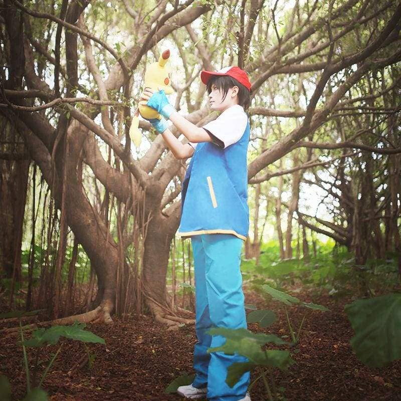 Xcoser Pokemon Cosplay Ash Ketchum Costume CostumesS- Xcoser International Costume Ltd.