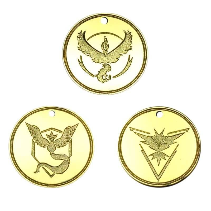 Xcoser Pokemon Go Necklace Team Instinct/mystic/valor Alloy Cosplay Accessories Set Of 3Pcs - Jewelry 4