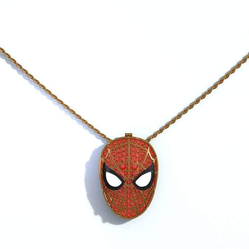 XCOSER Spider-Man: Far From Home Spider Man Brooch Necklace JewelryGolden- Xcoser International Costume Ltd.