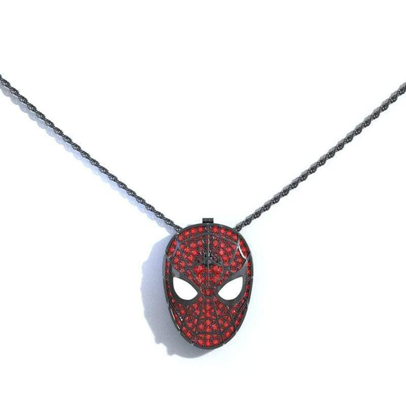 XCOSER Spider-Man: Far From Home Spider Man Brooch Necklace JewelryBlack- Xcoser International Costume Ltd.