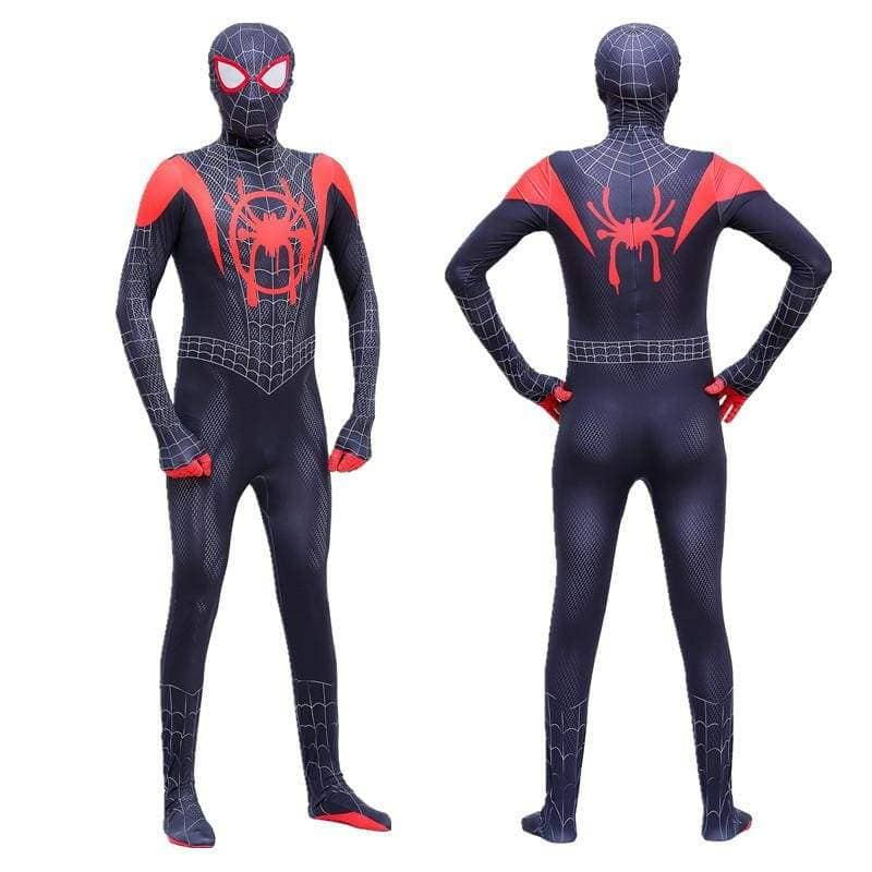 XCOSER Spider-Man: Into the Spider-Verse Miles Morales Parent Child Clothing/Outfit Cosplay Jumpsuit CostumesAdult- Xcoser International Costume Ltd.