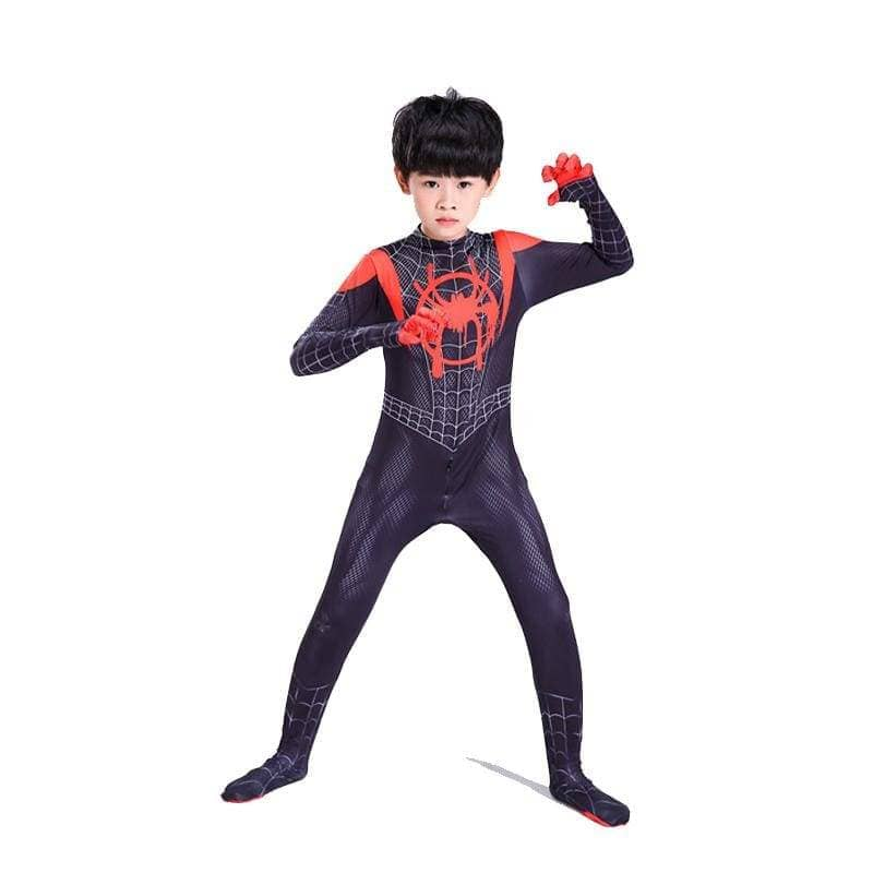 XCOSER  Spider-Man: Into the Spider-Verse Miles Morales Parent Child Clothing/Outfit Cosplay Jumpsuit - Xcoser International Costume Ltd.