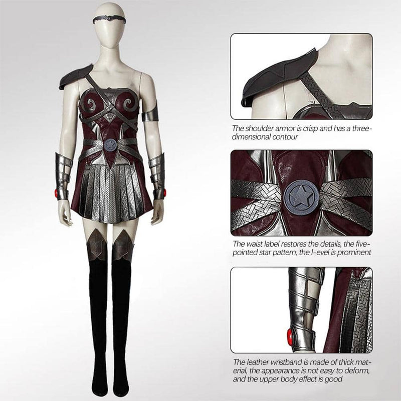 Xcoser The Boys Season 2 Queen Maeve Jumpsuit Outfits Halloween Carnival Suit cosplay costume 2020 CostumesS (without shoes)- Xcoser International Costume Ltd.