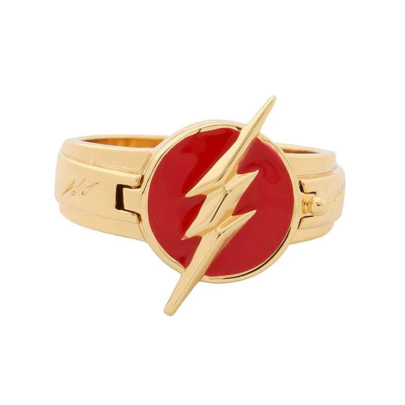 Xcoser The Flash Rings Alloy Cosplay Accessory With Logo - Golden - Jewelry 1