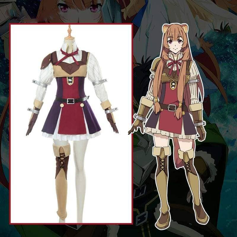 Xcoser The Rising of the Shield Hero Raphtalia Cosplay Costume CostumesS- Xcoser International Costume Ltd.