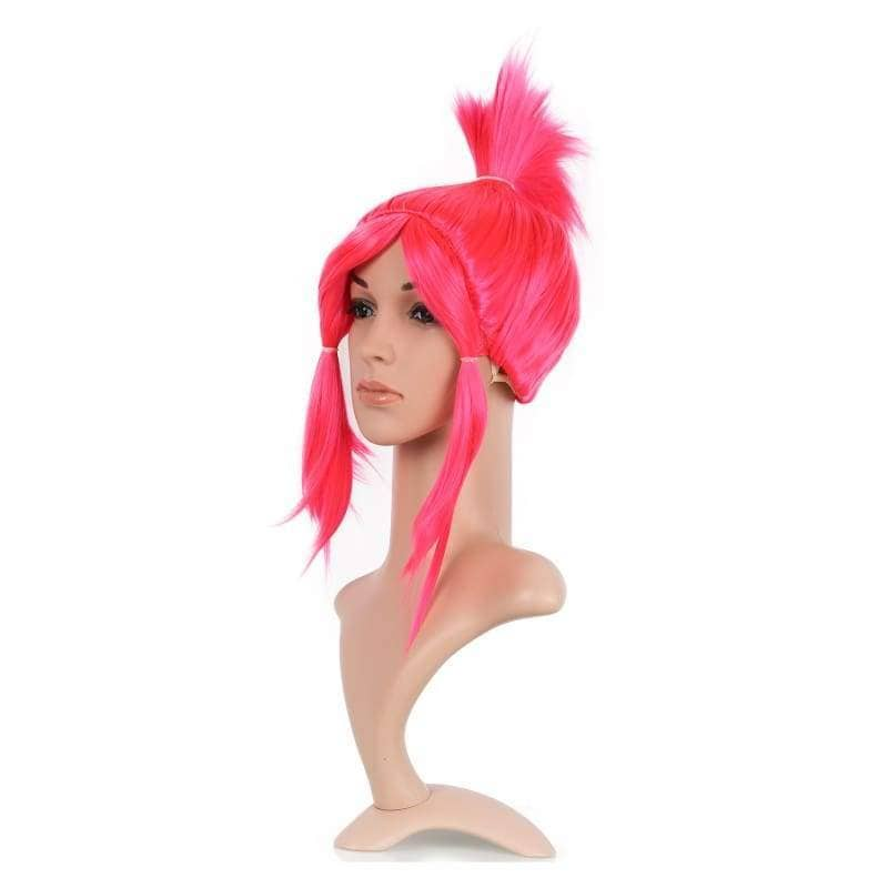 Xcoser Trolls Princess Poppy Cosplay Wig Womens Straight Red Artificial Braid Hair - Wigs 2