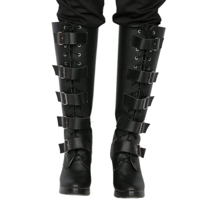 Xcoser Underworld Selene Boots Deluxe Black Pu Knee-High Cosplay Shoes - Male 46(Us12) - 1