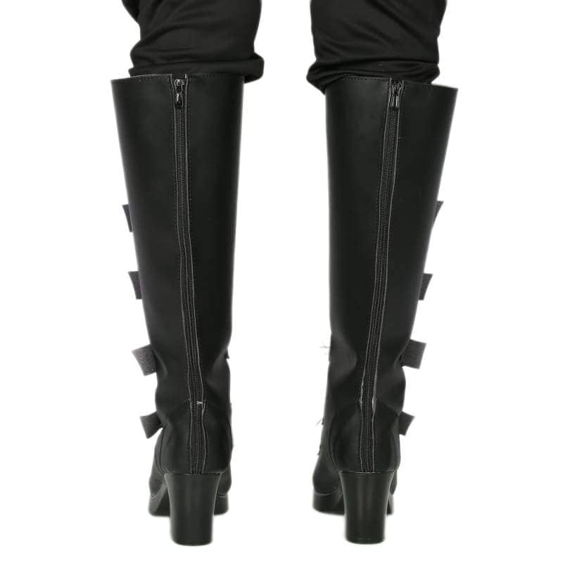 Xcoser Underworld Selene Boots Deluxe Black Pu Knee-High Cosplay Shoes - 5
