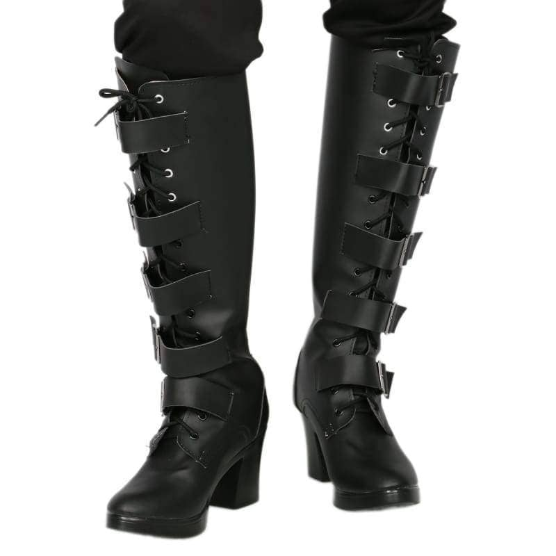 Xcoser Underworld Selene Boots Deluxe Black Pu Knee-High Cosplay Shoes - 2