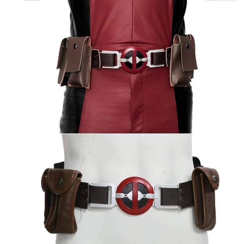 Xcoser Updated Deadpool PU Belt with 4 Pockets Cosplay Props PropsBrown and Black-Only for USA- Xcoser International Costume Ltd.