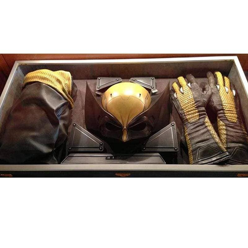 Xcoser X-men Wolverine Cosplay Resin Mask and Pu Leather Gloves - Helmet 1