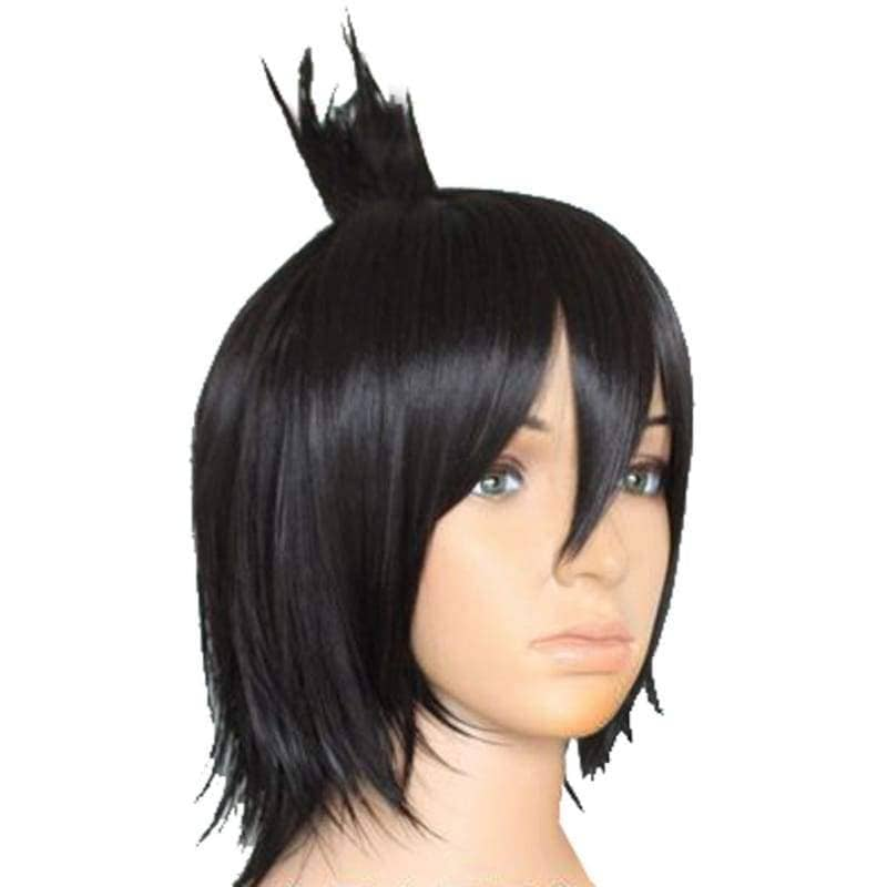 Zeref Wig Fairy Tail Dragneel Short Black Party Cosplay Heat Resistant - Wigs 2