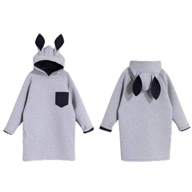 Zootopia Cosplay Costume Spring Creative Rabbit Ears Hooded Long Sweatshirts For Adults - Costumes 4