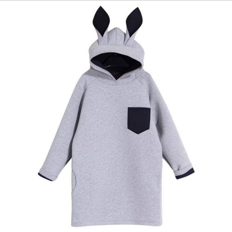 Zootopia Cosplay Costume Spring Creative Rabbit Ears Hooded Long Sweatshirts For Adults - Costumes 3