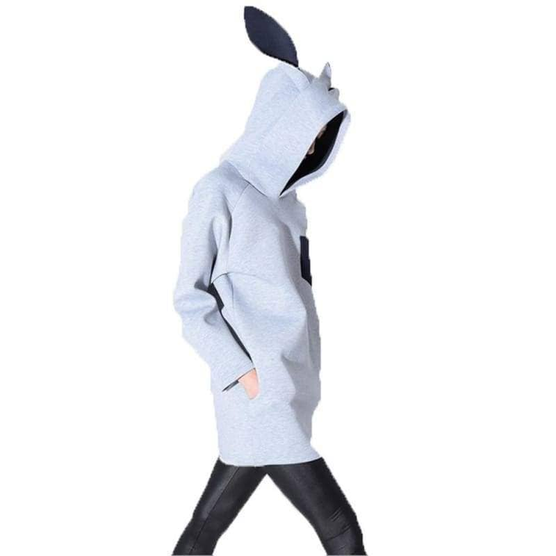Zootopia Cosplay Costume Spring Creative Rabbit Ears Hooded Long Sweatshirts For Adults - Costumes 1