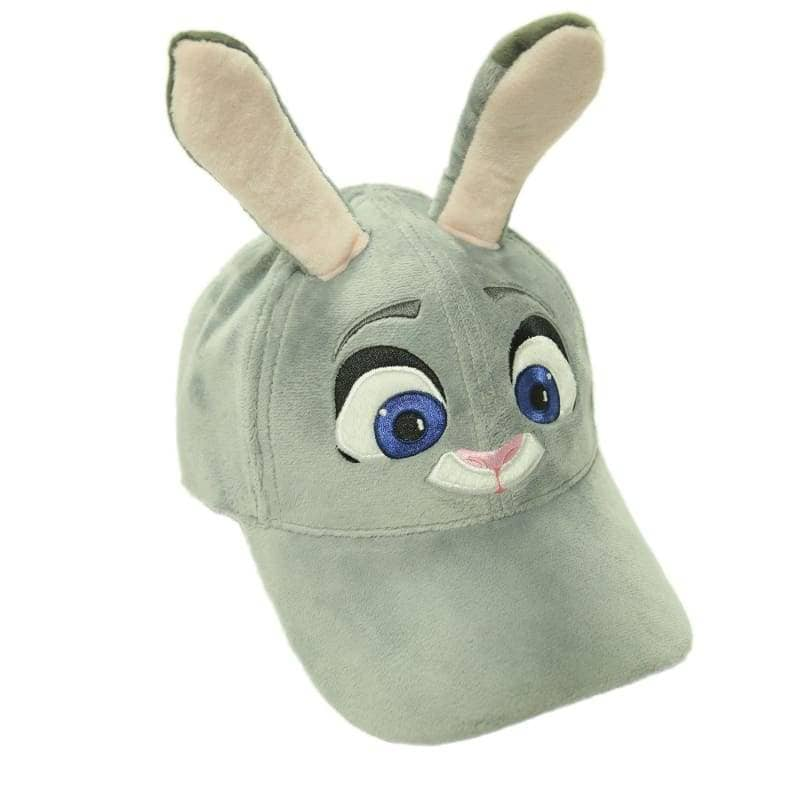 Zootopia Judy Hat With Plush Cute Ears Adults Cap Cosplay Costume Accessories - Hats 1