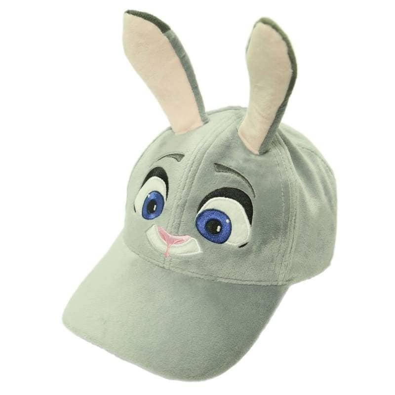 Zootopia Judy Hat With Plush Cute Ears Adults Cap Cosplay Costume Accessories - Hats 2