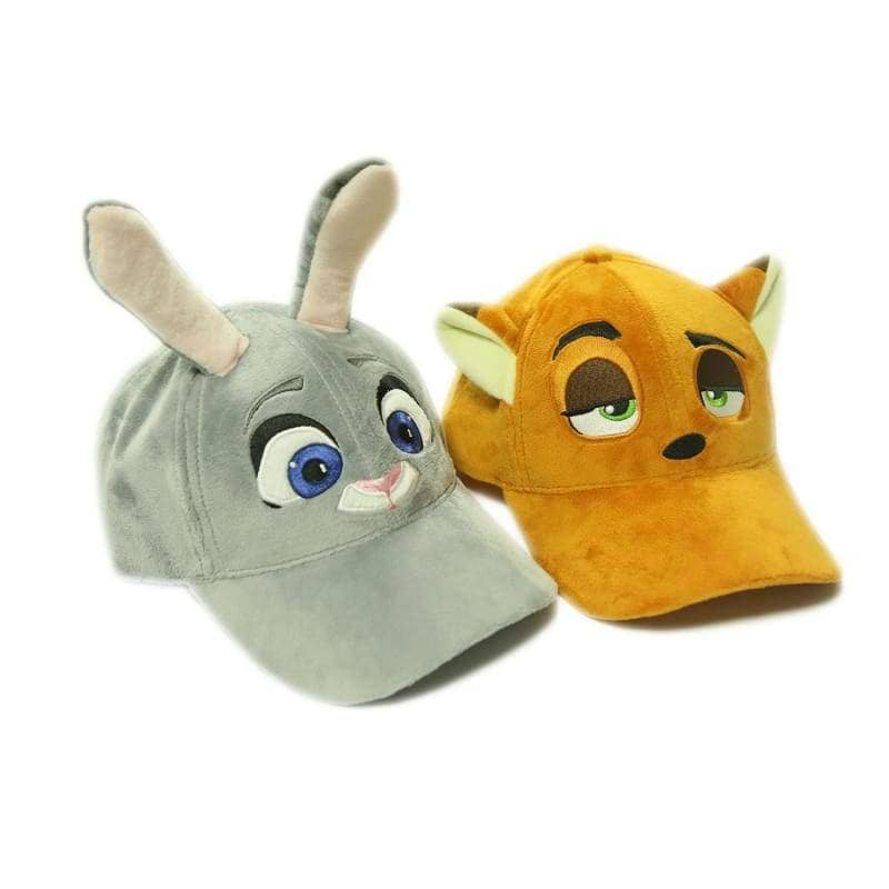Zootopia Judy Hat With Plush Cute Ears Adults Cap Cosplay Costume Accessories - Hats 3