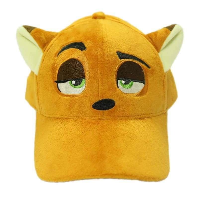 Zootopia Nick Hat With Fox Ears Plush Baseball Cap Cosplay Costume Accessories - Hats 1