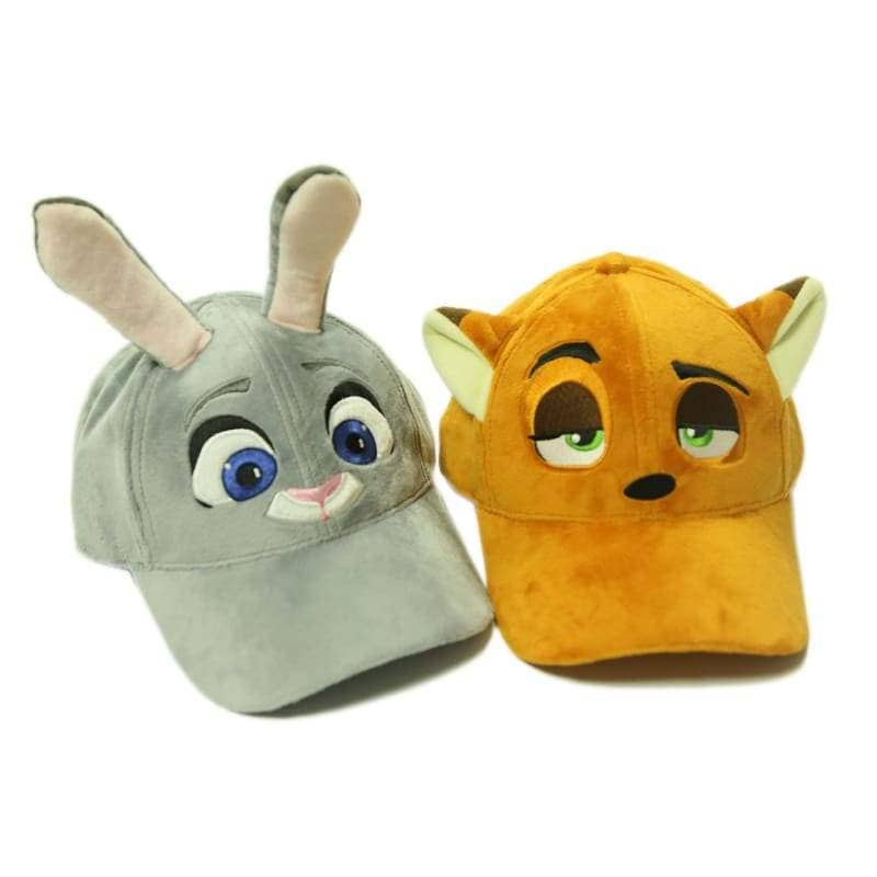 Zootopia Nick Hat With Fox Ears Plush Baseball Cap Cosplay Costume Accessories - Hats 4