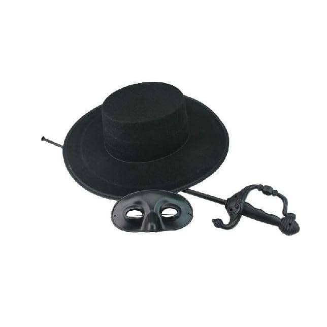 Zorro Costume With Hat/mask/sword/cloak - Props 2