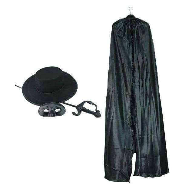 Zorro Costume With Hat/mask/sword/cloak - Props 1