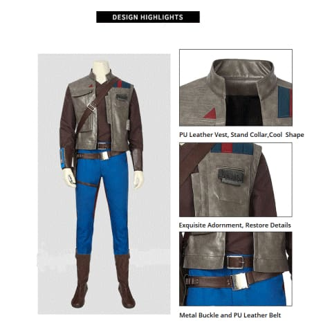 2019 Star Wars: The Rise of Skywalker Movie John Boyega Finn Cosplay Costume for Men