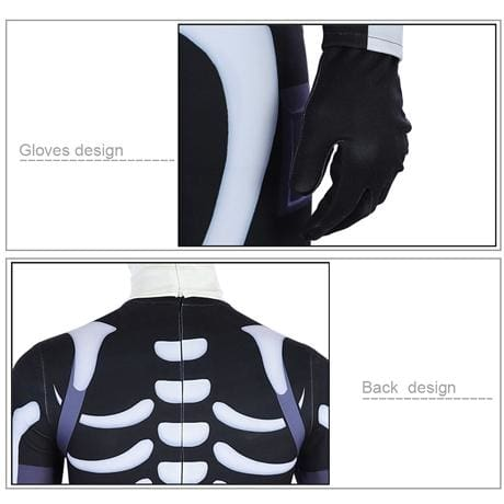 Xcoser Fortnite Skull Trooper Halloween Cosplay Costume