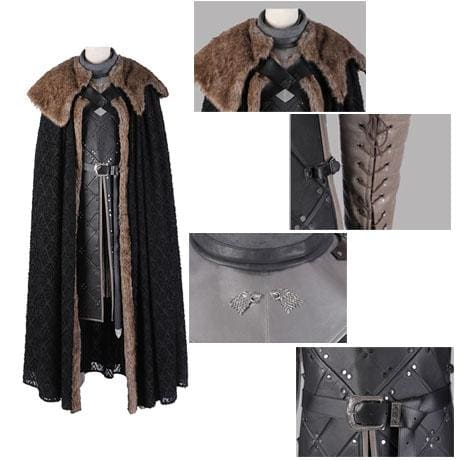 Xcoser Game of Thrones Season 8 Jon Snow Cosplay Costume