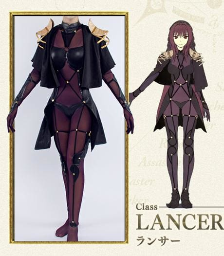 Xcoser Fate Lancer Scathach Cosplay Costume
