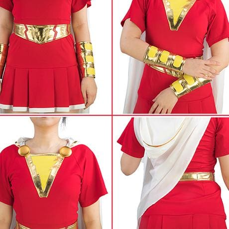XCOSER Shazam! Mary Marvel Cosplay Costume