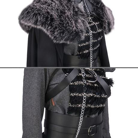 XCOSER Game Of Thrones 8 Queen Sansa Stark Cosplay Costume