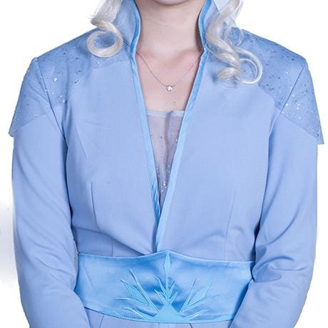Xcoser 2019 Disney Anime Movie Frozen 2 Elsa Cosplay Costume Blue Dress for Women