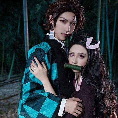 Xcoser Demon Slayer: Kimetsu no Yaiba Kamado Nezuko Cosplay Costume