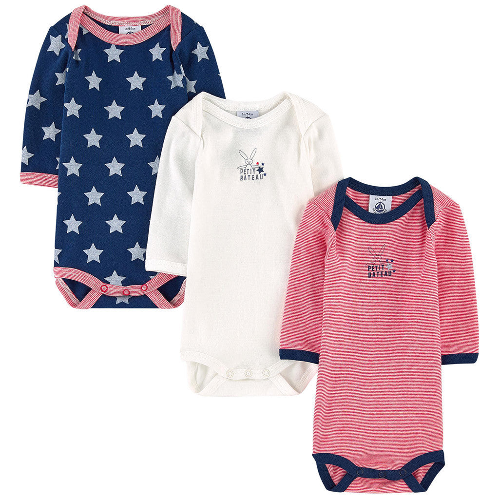 3 Pack Boy Bodysuits - Occasion Kids