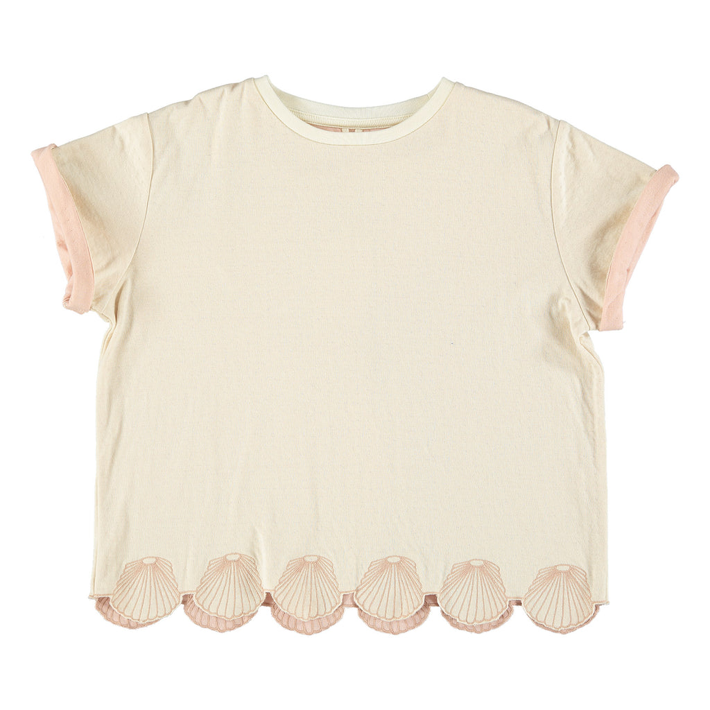 Girls 'Alessandra' Reversible Tee with Seashell Trim