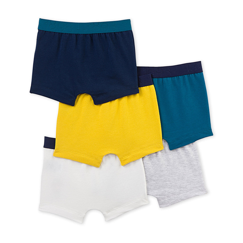5 Pack Solid Boxers with Graphic - Occasion Kids
