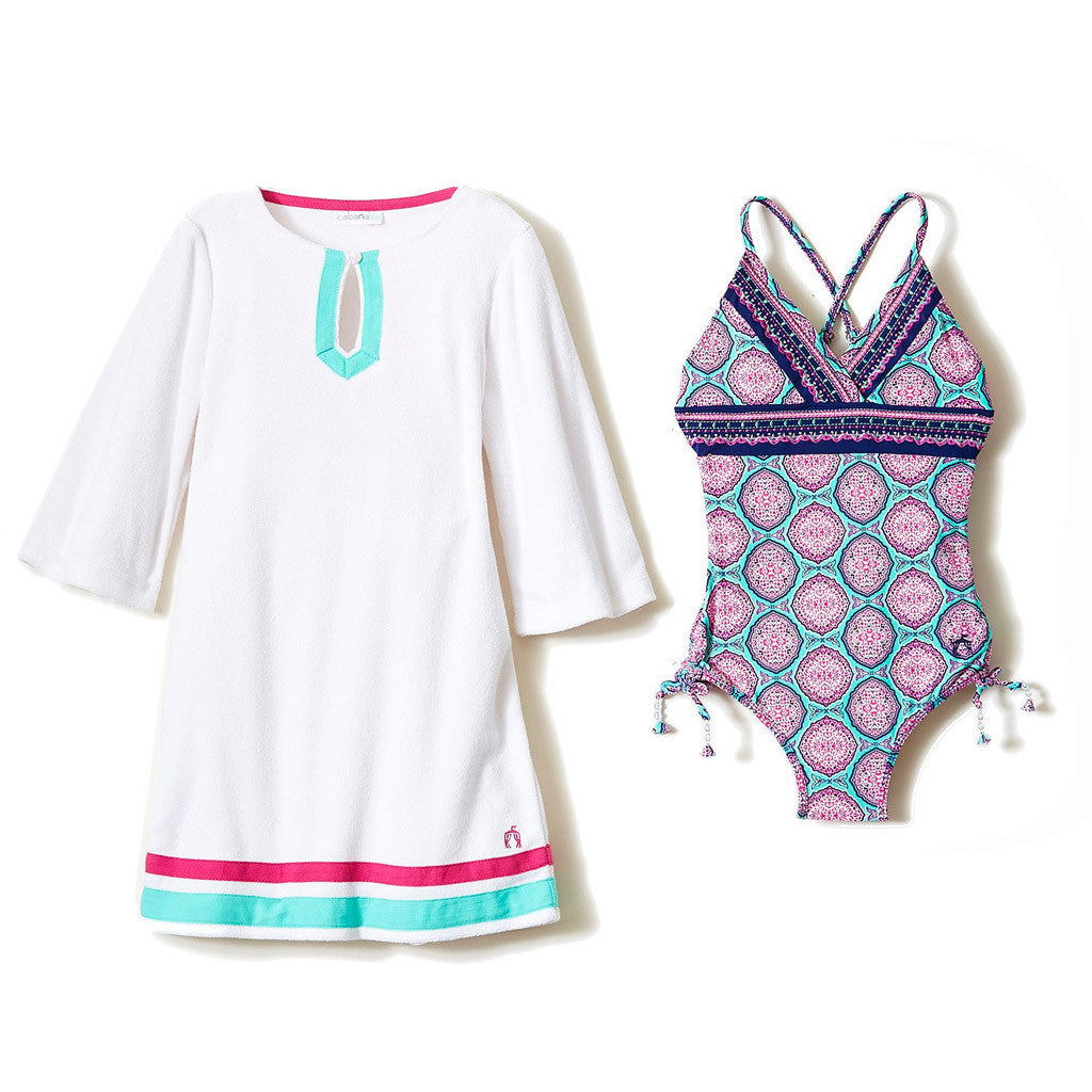 Azalea Shores Swimsuit & Terry Cover Up Set - Occasion Kids