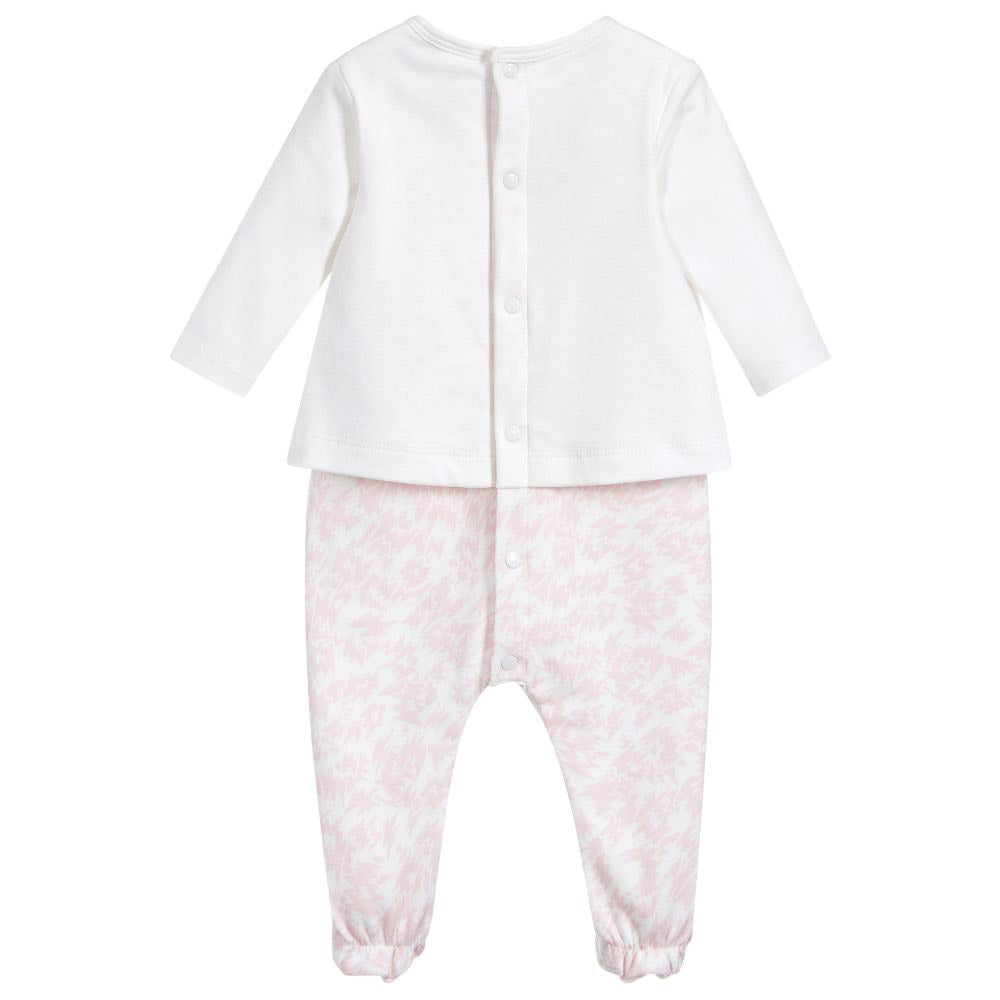 Baby Pink Tiger Organic Cotton Footie