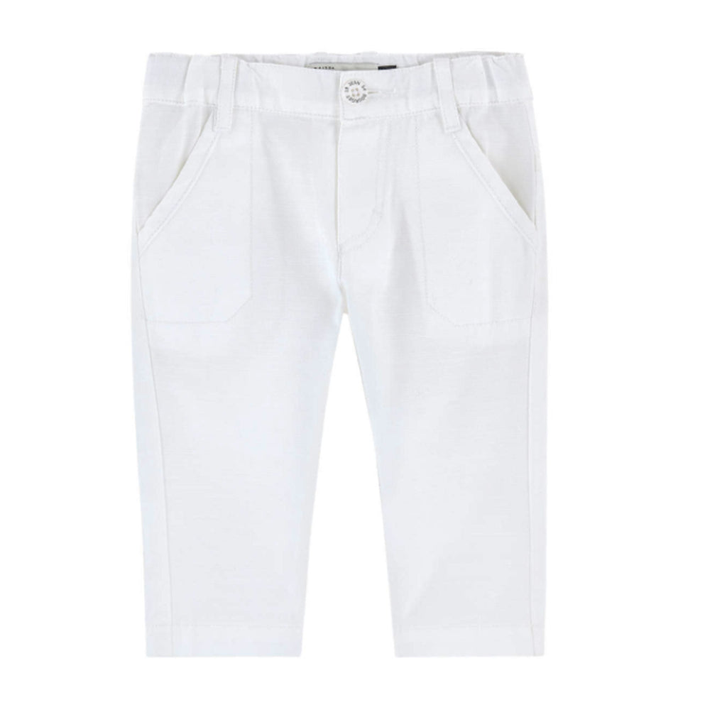 Baby Boy White Trousers